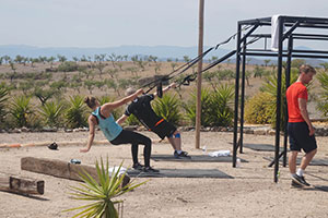 outdoor training at target fitness spain