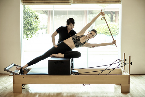 Reformer Pilates at Chiva Som in Thailand