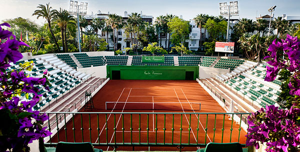 Tennis courts at Marbella Club