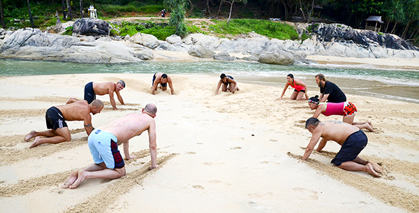 Phuket Cleanse beach fitness