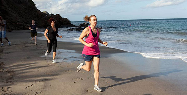 Beach running at The Bodyholiday