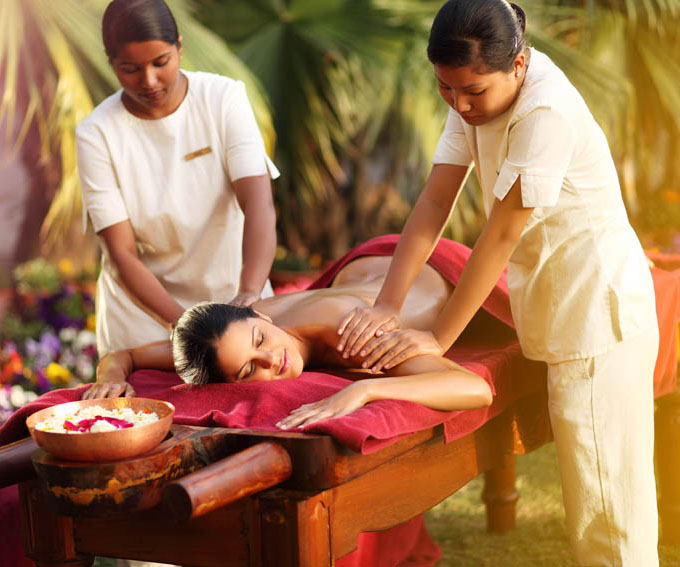 Ayurvedic massage at Ananda