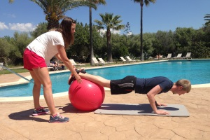 Personal Training core workout Reads Mallorca