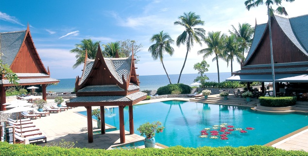 Chiva Som, Thailand, pool view