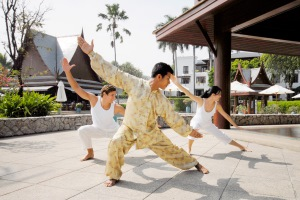 Tai Chi on a spa holiday at Chiva Som