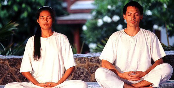 meditation at Chiva Som