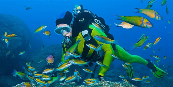 scuba diving at Galo