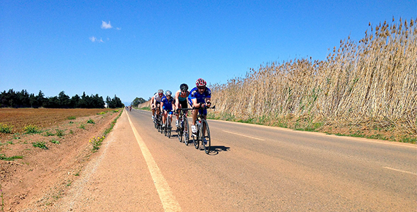 Cycling on a professional route on the F12 Retreat