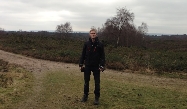 Adam exploring the grounds at Grayshott Spa
