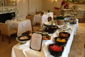 The buffet breakfast at Grayshott Spa
