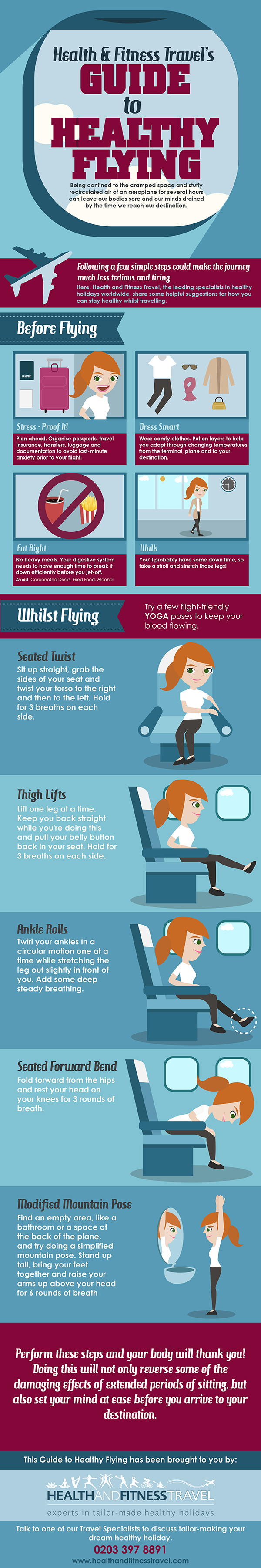 Healthy Flying Infographic