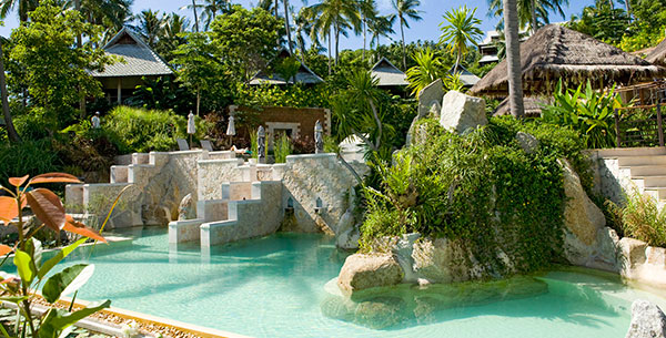 outdoor pool at kamalaya