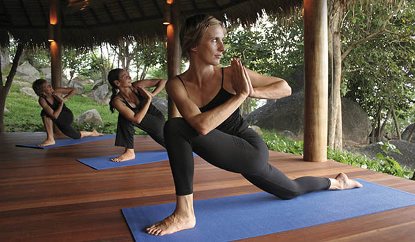 Increasing well being with yoga at kamalaya