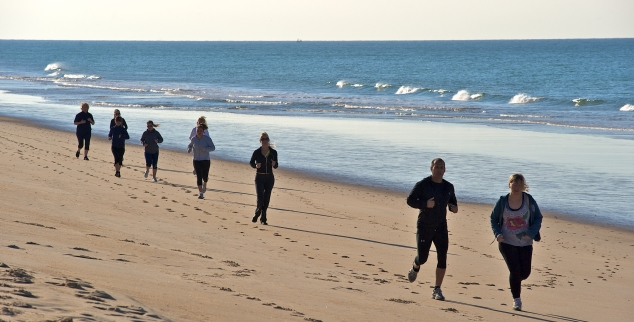 Luxury Algarve Bootcamp beach running, Portugal