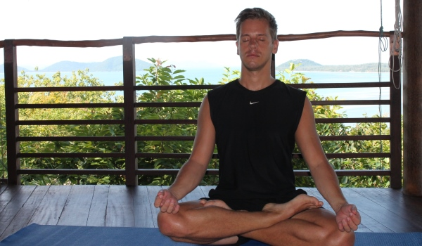 Paul meditating at Kamalaya in Koh Samui, Thailand