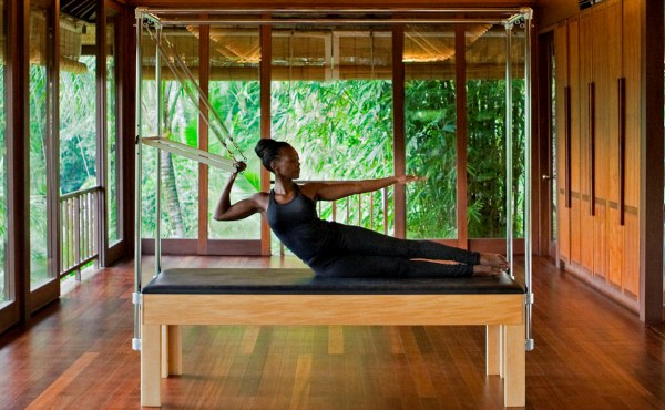 The Pilates studio at Como Shambhala in Bali