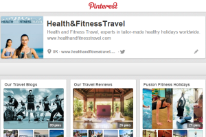 Health and Fitness Travel Pinterest page