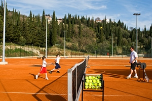 A tennis lesson at Raddisson Blu