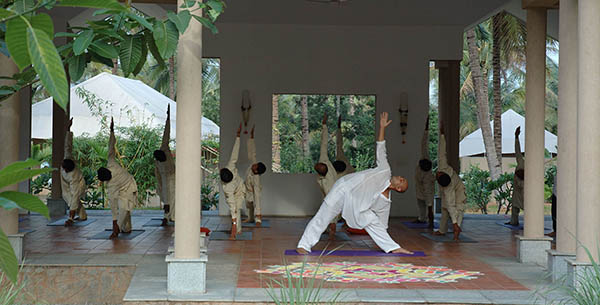 A yoga class at Shreyas yoga