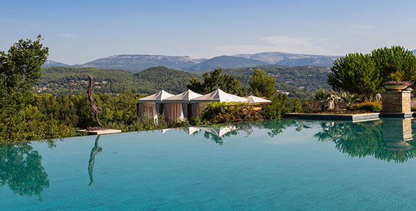 Outdoor pool at Terre Blance