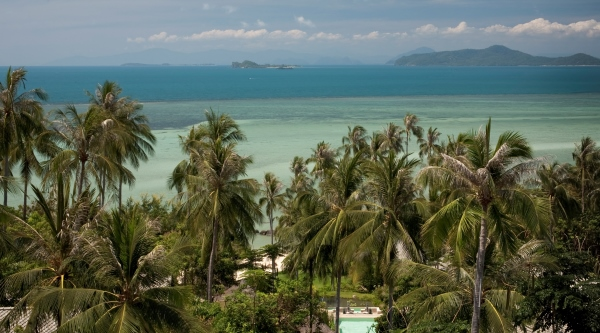 A view of the ocean at kamalaya in Koh Samui, Thailand