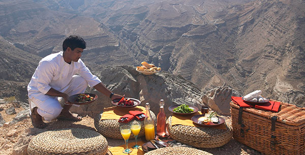 mountain picnic in Oman