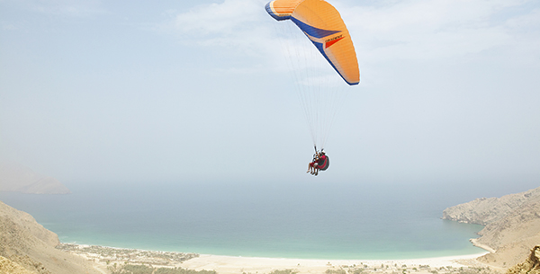 Paragliding at Zighy Bay