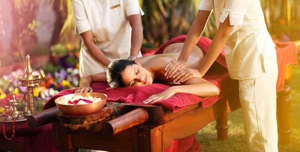 A relaxing Ayurvedic massage at Ananda