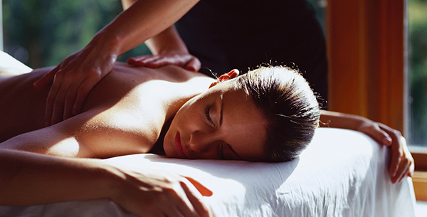 Feeling peaceful with a massage at Grayshott Spa