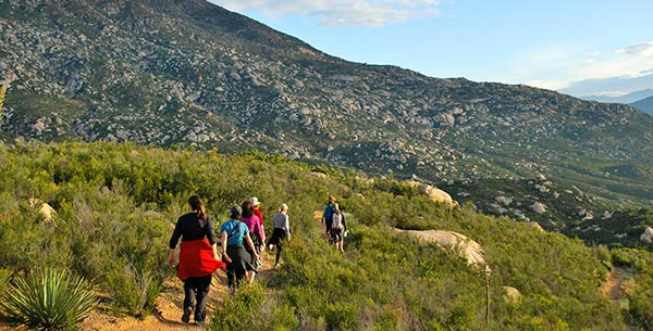 Go hiking in the mountains at Rancho La Puerta