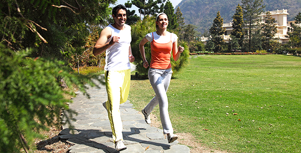 Enhance weight loss with jogging at Ananda