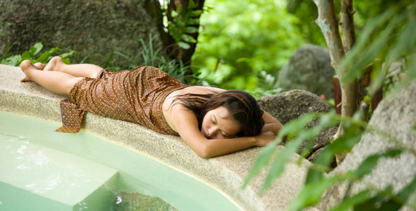 Peacefully resting at Kamalaya