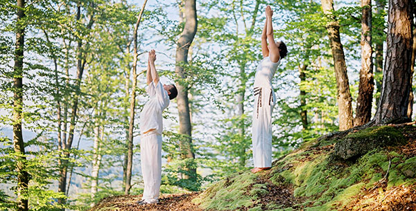 relaxing forest yoga la clairiere