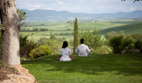 Meditation in the countryside at Adler Thermae