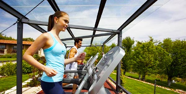 Outdoors fitness at adler thermae