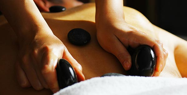A hot stone massage at Terre Blanche