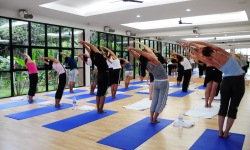 Absolute Sanctuary weight management - yoga class