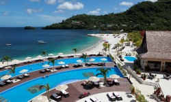 Buccament Bay pool overview, St Vincent