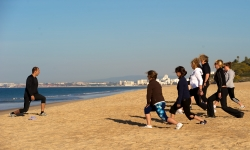Luxury Algarve Bootcamp - beach stretch