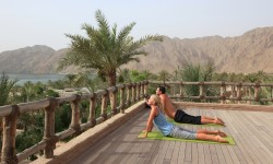 Zighy Bay, Oman - yoga