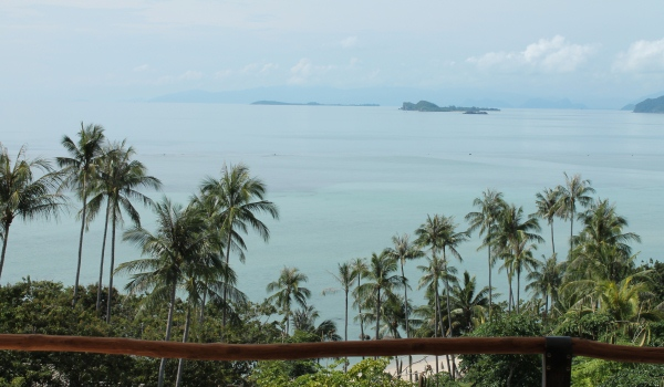 A spectacular view of the sea from the spa at Kamalaya, Thailand