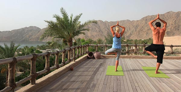 yoga at zighy bay